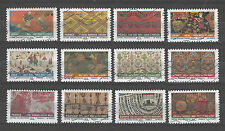 France 3934-3945 Fabric Designs (2011 issue)