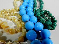 3x GABLONZ 20/30er Jahre Glas Ketten ° bohemia art deco glass necklace