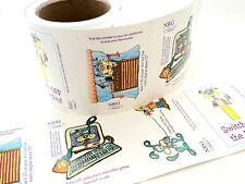 3 Rolls Fun Water & Energy Vinyl Cling 300 stickers- 12 scenes Characters