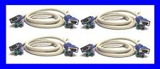 Lot of 4 CPS2-6A Genuine AVOCENT CYBEX Switchview DELL HP 6FT KVM SWITCH Cables