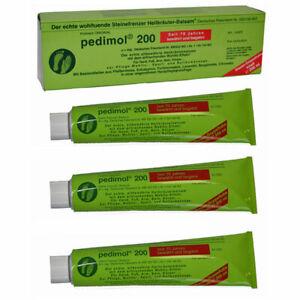 3 Stück  Pedimol 200 Steinefrenzer Heilkräuter Balsam für Wohltu-Massagen Creme