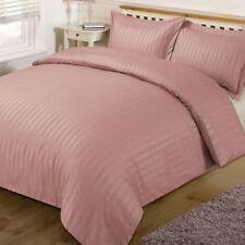 Parures et housses de couette rose à motif Rayé pour chambre