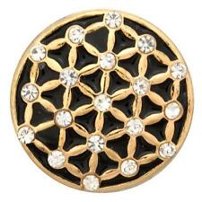 Geometric Gold Nugz 18mm Snap 101256  BUY 4 GET 5TH FREE