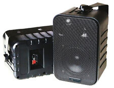 3-Wege LAUTSPRECHER MIT HALTERUNG, 120 Watt Mini-Boxen - schwarz, PAARPREIS