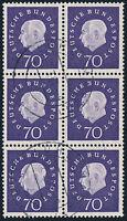 BUND 1959, MiNr. 306, Sechserblock, sauber gestempelt, gepr. Schlegel, Mi. 750,-