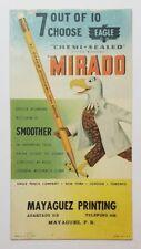 VTG ADVERTISING CARD / SECADOR / MAYAGUEZ PRINTING / PUERTO RICO 1940's