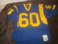 Late 1970's NFL Los Angeles Rams Game Jersey #60 Dennis Harrah