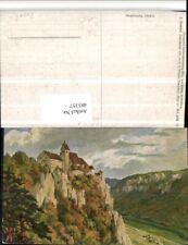 483357,Künstler AK F. Hummel Schloss Werenwag b. Beuron