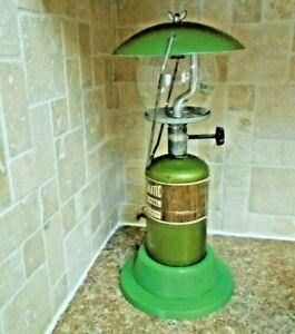 Vintage Green Bernz-O-Matic Propane Lantern W/Pyrex Globe -