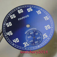 38.9MM blue dial white numbers fit 6498 hand winding Movement Men's watch dial