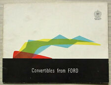 FORD CABRIOLET brochure vendita CAR Jan 1961 CONSUL ZEPHYR ZODIAC