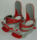 Drake F40 Red and Silver Snowboard Bindings Size Large