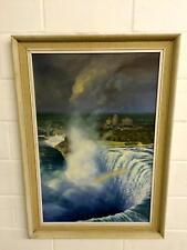 Niagara Falls, Ontario, Canada, Gordon Ellis, Signed L R, Oil On Board Painting
