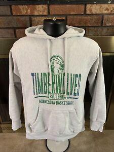 Minnesota Timberwolves NBA Basketball Hooded Sweatshirt Men Medium Reverse Weave