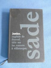 LIVRE MARQUIS DE SADE 1961 Justine Eugenie de Franval ... Edition numérotée