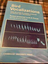 Hinde (ed). Bird Vocalizations. Cambridge University Press, 1969