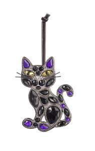 Ganz H0 Halloween Fall Crystal Expressions Black Cat Ornament 4in ACRYF-64