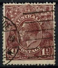 Australia 1918-20 SG#52, 1.5d Brown KGV Used #D48601