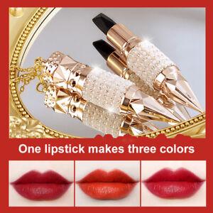 Queen's Scepter Tricolor Lipstick Matte Matte Lipstick Long-lasting Makeup UK