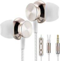 Betron Earphones Headphones Microphone Volume Control Extra Bass Stereo BS10 W