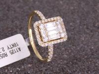 NEU Damen Ring mit 0,85 ct Baguette Diamanten / Brillanten 750 18 Karat Gelbgold