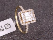 NUEVO Anillo Mujer con 0,85ct Baguette diamantes/Brillantes 750 18 quilates