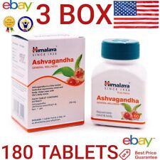 Ashwagandha HIMALAYA Organic 3 BOX 180 tablets Reduce Stress Increase Energy