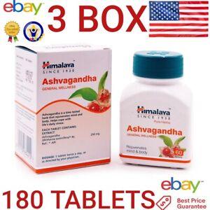 Ashwagandha HIMALAYA OFFICIAL 180 tablets Reduce Stress Increase Energy EXP 2024