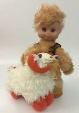 "Vintage 1985 Wonder Whims Jadoo & Rambumptious Boy Doll And Sheep Ram Plush 9"""