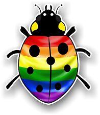 Belle Coccinelle Ladybug design avec LGBT GAY PRIDE drapeau arc-en-ciel Autocollant Voiture
