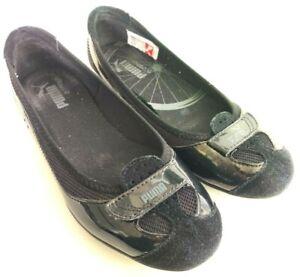 PUMA Zandy Womens Size 6 Black Casual Slip On Walking Athletic Ballet Flats Shoe