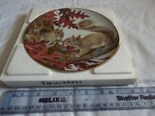 PORCELAIN PLATE COLLECTION THE FOREST YEAR SQUIRRELS