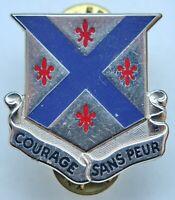 United States USA 126th Armor Regiment Unit Crest ''Courage Sans Peur'' Badge