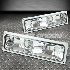 FITS 88-98 CHEVY GMT400 C10 C/K GMT400 SUBURBAN CLEAR LENS BUMPER PARKING LIGHT