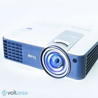 BenQ MW814ST DLP Projector Short-Throw HDMI WXGA with remote and cables 3D ready