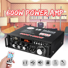 110V DC12V 600W 2 Channel bluetooth Digital Power Amplifier HIFI Audio MP3 FM