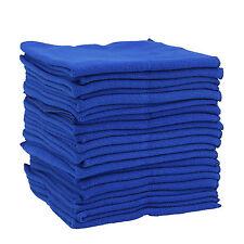 20 x Large Blue Microfibre Cleaning Auto Car Detailing Soft Cloths Wash Towel