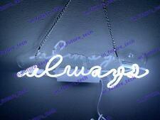 "New Always White Neon Light Sign Lamp Beer Pub Acrylic 14"" Fast Ship"