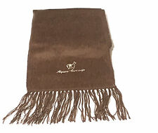 Genuine Brushed Brown Alpaca Wool Scarf Hand Made in Ecuador & Peru