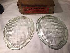 1939 Headlamp Lenses for Ford Model V-8 Ford De Luxe & Mercury H-112 NOS