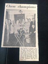 71-4 Ephemera 1957 Picture Margate Chess Club F G Mackie J C Day