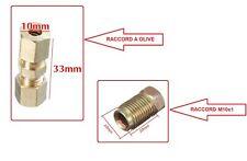 Raccord de frein réparation rallonge conduite tuyau a olive 4,7 mm ou filté M10