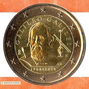 Sondermünzen Italien: 2 Euro Münze 2014 Galileo Galilei Sondermünze Gedenkmünze
