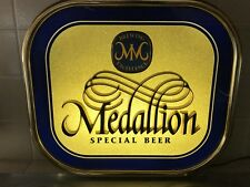 """VTG MEDALLION SPECIAL BEER OLYMPIA BREWING PLASTIC SIGN 14"""" X 16"""" RARE"""