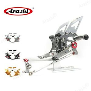 For Ducati 1098 S 2007 2008 848 2011-2013 Adjustable Footrest Rearsets Foot Pegs
