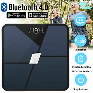 Bathroom Body Fat Scale 180kg Electronic Smart BMI Digital LCD Weight Scales UK
