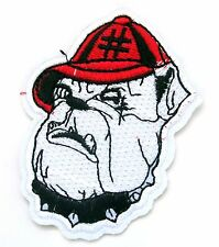 Bull Dog Iron On Patch- Pet Animal Novelty Funny Bulldog Applique Badge