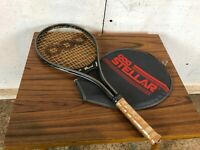 Vintage Stellar 000 Tennis Racket with Plastic on Handle and Case