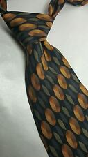 Bergamo New York Tie 100% Silk Black Gold