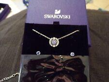 NIB Swarovski #5279425 SPARKLING DANCE Round Necklace Set + Earrings  JTR